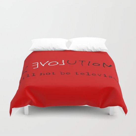 re-love-ution Duvet Cover