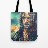 lotr Tote Bags featuring Elessar by Alice X. Zhang