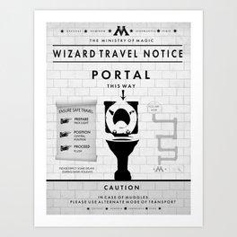 Wizard Toilet Travel Poster Art Print