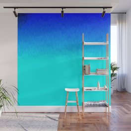 Electric Blue Ombre flames / Light Blue to Dark Blue Wall Mural