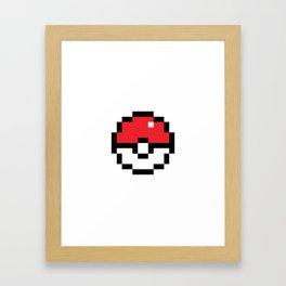 Pixel Pokeball Framed Art Print
