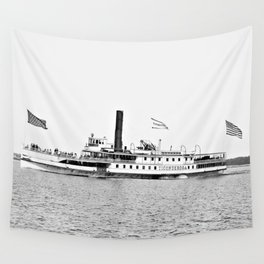 Ticonderoga Steamer on Lake Champlain Wall Tapestry