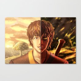 Two Sides Of One Fire Canvas Print
