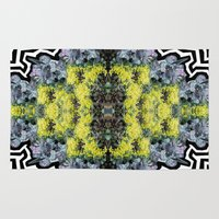 succulents Area & Throw Rugs featuring Succulents by saralynn