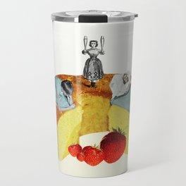 Reckoning cake | Collage art illustration Travel Mug