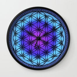 Flower of Life (colour) Wall Clock