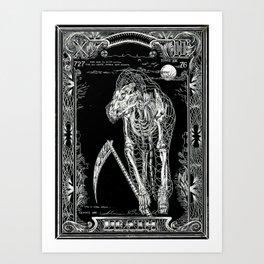 DEATH of Tarot Cat Art Print