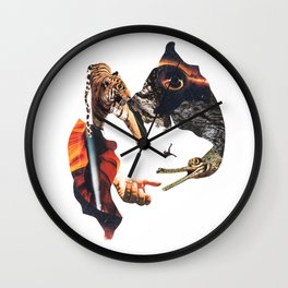Gravity bite Wall Clock
