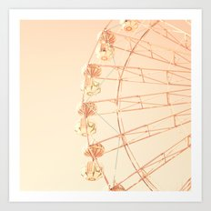 Ferris wheel on blush pink  Art Print