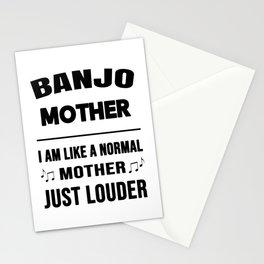 Banjo Mother Like A Normal Mother Just Louder Stationery Cards