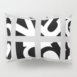 Letter Grid Pillow Sham