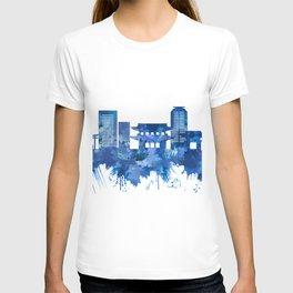 Kyoto Japan Skyline Blue T-shirt