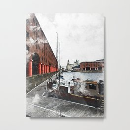Liverpool Docks Metal Print