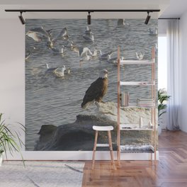 Eagle on Ice Wall Mural