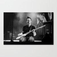 blink 182 Canvas Prints featuring Mark Hoppus | Blink 182 by mattburkephoto