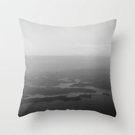 Shadow inlets Throw Pillow