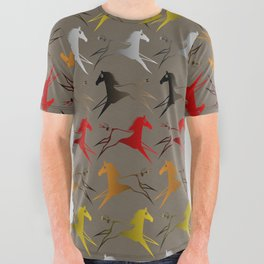 Native American War Horse All Over Graphic Tee