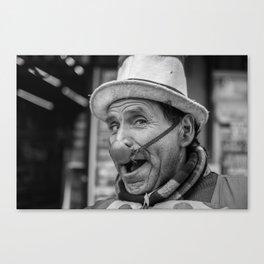 Mexican Street Clown Canvas Print