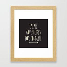 Create Adventures Framed Art Print