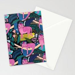 Cheetah Night Stationery Cards