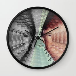 Vote Trump-Pence 2016 Wall Clock