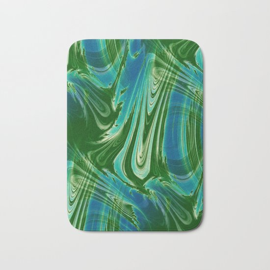 Tropical Colors Abstract Bath Mat