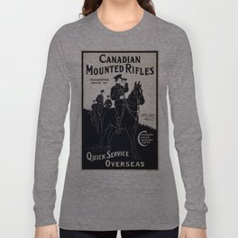 Vintage poster - Canadian Mounted Rifles Long Sleeve T-shirt