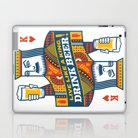 King of Beers Laptop & iPad Skin