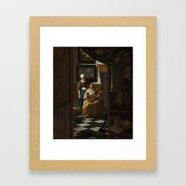 The love letter - Johannes Vermeer (1668-1670) Framed Art Print
