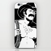 cowboy iPhone & iPod Skins featuring Cowboy by Fast Drip