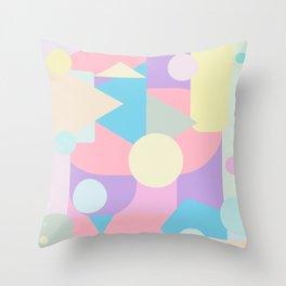 Pastel Weirdscape View Throw Pillow