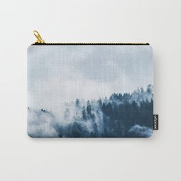 CLOUDS - WHITE - FOG - TREES - FOREST - LANDSCAPE - NATURE - TIMBER - WOODS - PHOTOGRAPHY Carry-All Pouch
