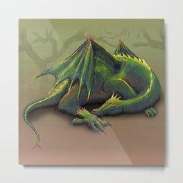 Sleeping dragon Metal Print