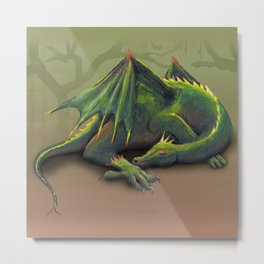 Sleeping dragon Metal Print