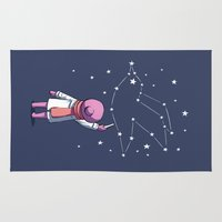 constellation Area & Throw Rugs featuring Constellation by Freeminds