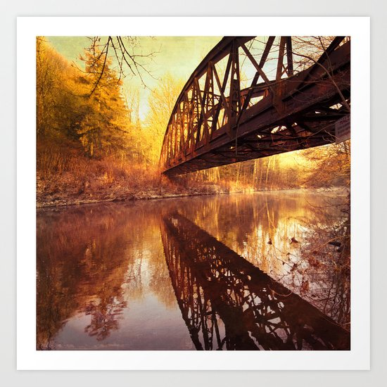 Rusty Old Bridge Art Print