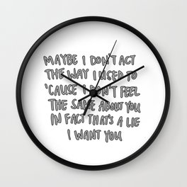 CATB Lyrics/Quotes Wall Clock