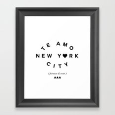 TE AMO NEW YORK CITY (forever & ever) Framed Art Print