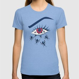 Creepy Red Eye With Ants T-shirt