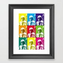 Boba Fett Popart Framed Art Print
