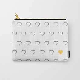 Hearts - Yellow Carry-All Pouch
