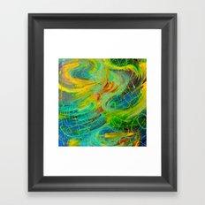 NAUTICAL GALAXY - Beautiful Aquatic Blue Green Ocean Universe Abstract Acrylic Painting Gift Decor Framed Art Print