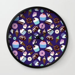 Sweets & Treats - Colored Wall Clock