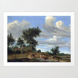 Salomon van Ruysdael A Country Road Art Print