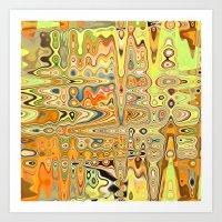 Converging Continents Art Print