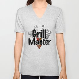 Grill Master with BBQ Tools Unisex V-Neck