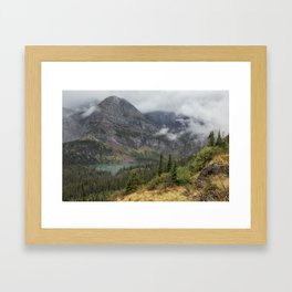Grinnell Lake from the Trail No. 1 - Glacier NP Framed Art Print