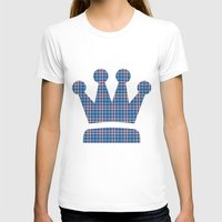 plaid T-shirts featuring Blue Plaid by Kings in Plaid