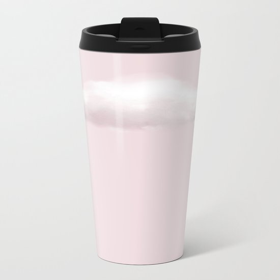 BLUSH COTTON CANDY CLOUD Metal Travel Mug