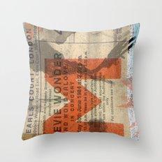 stevie wonder ticket stub Throw Pillow